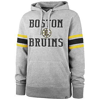 &ampos;47 Merke NHL Boston Bruins Ermet Stripe Hettegenser