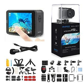 V50 Pro Native 4k/30fps 20mp Wifi Action Camera, Eis Touch Screen Waterproof