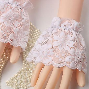 Detachable Cuffs Lace Ruffle Elbow Sleeve Cuff Arm Sun Protection Cover