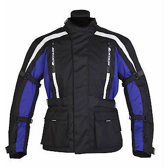 スパダコアメン&アポス;sオートバイジャケットブラックブルー防水CEアーマー冬