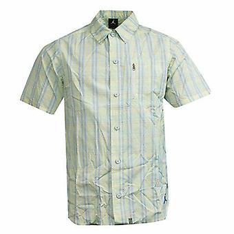 نايكي الأردن كلاسيك متعددة الألوان المنقوشة المنقوشة قميص زرر 389971 101