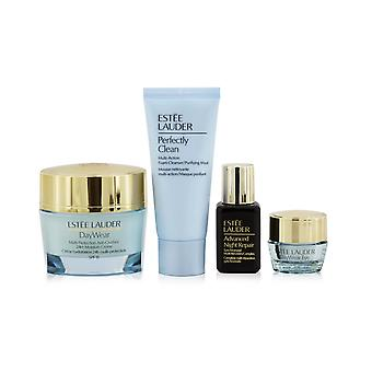 Protect+hydrate collection: day wear moisture creme spf 15 50ml+ anr multi recovery 15ml+ day wear eye 5ml+ perfectly clean 30ml 258484 4pcs