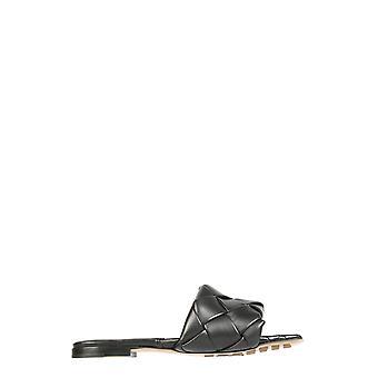 Bottega Veneta 608853vbss01000 Women's Black Leather Sandals