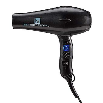 Be.professional Digital Blow Dryer - Long Nozzle - Pearl Black