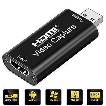 Diwuer capture card, 4k hdmi to usb 2.0 video capture device, 1080p hd 30fps broadcast live and reco