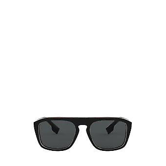 Burberry BE4286 vérifier lunettes de soleil unisexes noires multicoucouches