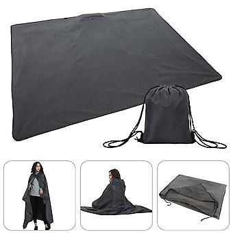 Beach Mat, Warm Waterproof Portable Outdoor Beach Mat with Hood, 110 * 160CM