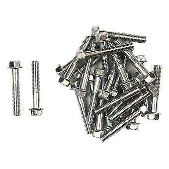 Bike It Carbon Steel Flange Head Bolts M6 x 35mm (25Pcs)