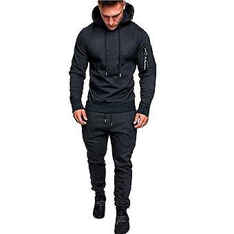 Causal Patchwork Jacheta, Trening Sportwear Hoodies Sweatshirt Pantaloni Jogger