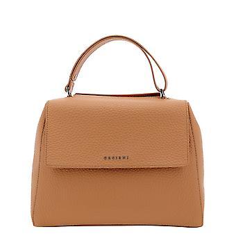 Orciani Bt2006softfard Women's Orange Leather Handbag