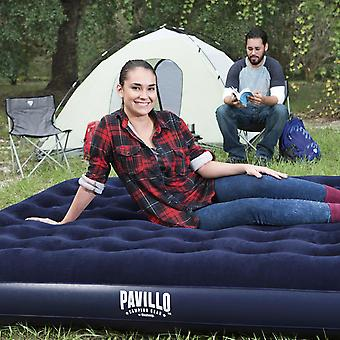 Pavillo King Flocked Blow up Inflatable Airbed Camping Mattress 203 x 183 x 22cm