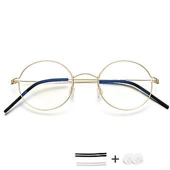 Ruuvittomat silmälasit, Reseptilasit Pyöreä Kehys & Naiset
