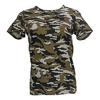 G.I.L.I. Women's Top Short Sleeve Crew Neck T-Shirt Gray A298277