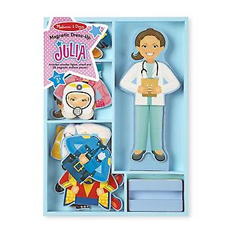 Melissa & doug - 15164 | wooden magnetic pretend play julia dress-up figure