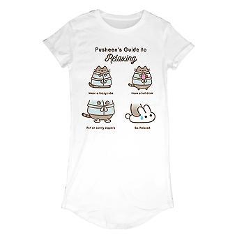Pusheen Womens/Ladies Guide To Relaxing T-Shirt