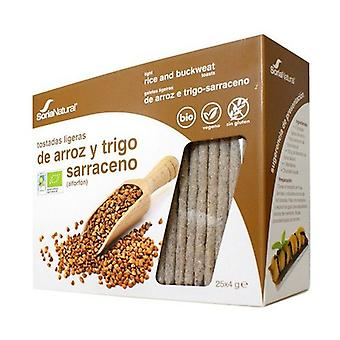 Brown Rice and Buckwheat Whomeal Toasts 90 g
