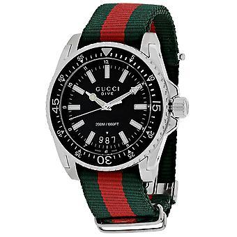 Gucci Men's Dive Black Dial Watch - YA136206