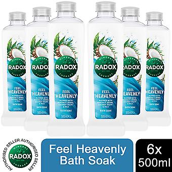 Radox 100% Nature Inspired Fragrances Bath Soak, Feel Heavenly, 6 Pack, 500ml