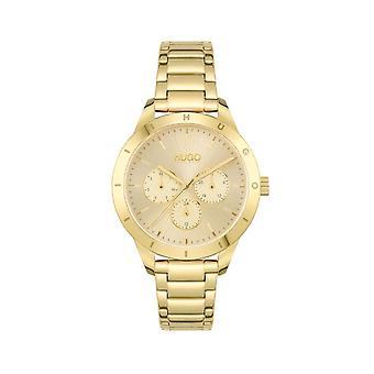 HUGO 1540091 Friend Gold Stainless Steel Ladies Watch