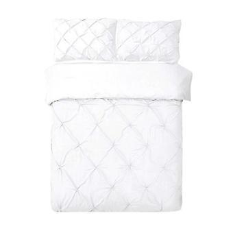 Giselle ropa de cama edredón cubierta de edredón conjunto blanco