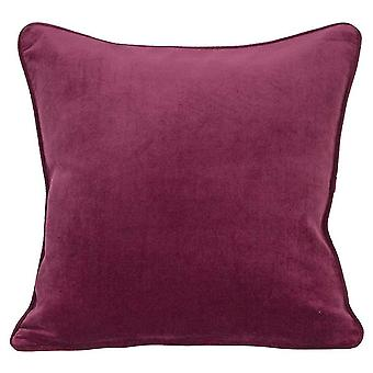 Solid color thin strip velvet pillowcase Simple square pillowcase for sofa and bed 45x45cm