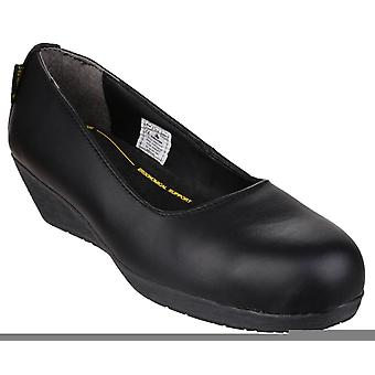 Amblers fs107 heeled court safety shoes womens