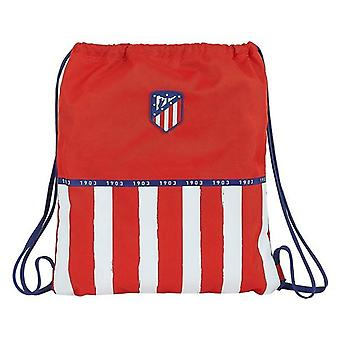 Backpack with strings atlético madrid blue white red front