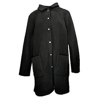 الدنيم وشركاه المرأة & apos معطف العادية شيربا السندات الصوف المفاجئة الأسود A372275