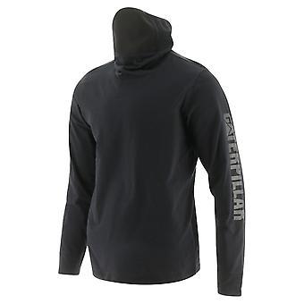 Caterpillar unisex viraloff ls gaiter t-shirt nero 32507