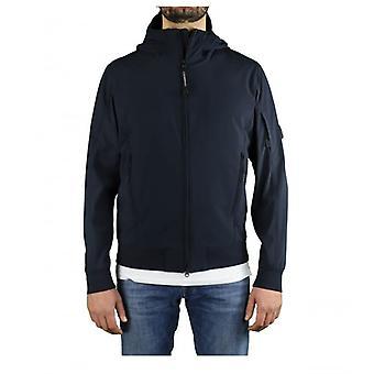 C.p. Company Shell R Navy Blue Hooded Jacket