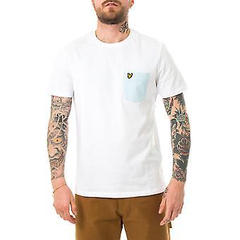 Mannen Lyle & Scott Contrast Pocket T-Shirt Ts831v.w362