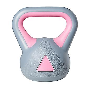 1pc Kettle-bell Gym Dedicated Fixed Kettlebells Women's Fitness Training Arm Muscle Kettlebells Exercise Fitness (gray Pink)