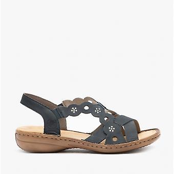 Rieker 60865 Naisten Nahka sandaalit Sininen