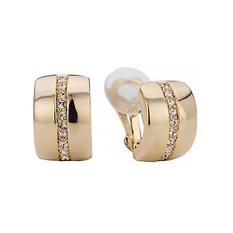 Traveller Clip Earring - 22ct Gold Plated - Swarovski Crystals - 156591 - 434