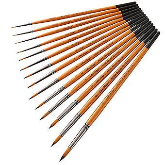 14 Pcs watercolor gouache nylon hair brush hook line brush pen multi-purpose