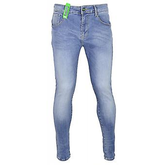 883 Police Moriarty Slim Fit Light Wash Jeans