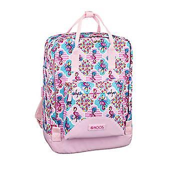 SAFTA Moos Flamingo Pink - Officiell ryggsäck med handtag, 270 x 130 x 380 mm
