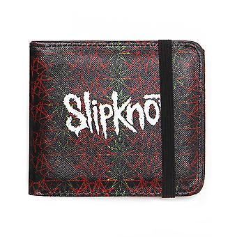 Rock Sax Slipknot Wallet Mens   Band Logo Black Bifoldable Purse   Music Festivals Merchandise   One Size