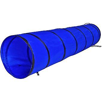 by dibea Hundetunnel Spieltunnel Hundehöhle Agilitytunnel Blau verschiedene Größen