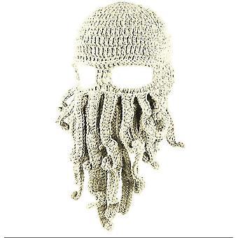 Bežná chobotnica klobúk legrační maskované ručne vyrábané háčkované vlnené teplý klobúk az9426