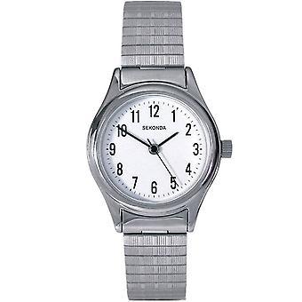 Sekonda 4601 White & Silver Stainless Steel Ladies Watch