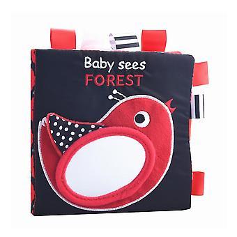 Bébé Excitation visuelle Tissu Livre Bébé Montessori Noir Blanc Lumières