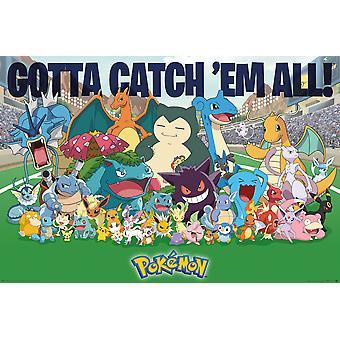 Pokemon alle Zeit Favoriten Maxi Poster