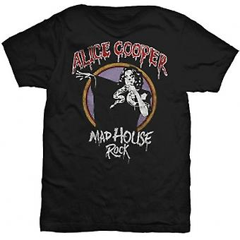 Alice Cooper Mad House Rock Mens Black T-Shirt: X-Large