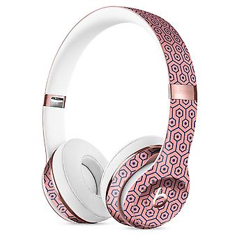 Navy Cells Over Coral  2 Full-body Skin Kit For The Beats By Dre Solo
