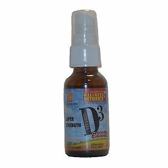 L. A .Naturals D3 MCT Super Strength Spray, 5,000 IU, 1 Oz