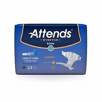 Attends Unisex Adult Incontinence Brief Attends Stretch Tab Closure Large / X-Large Disposable Moderate Abs, 24 Bags