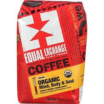 Gleicher Austausch Kaffee Grnd Geist Körper Sou, Fall von 6 X 12 Oz