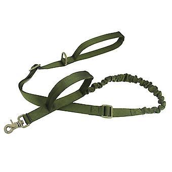 Venkovní nylonové vodítko pro psa, vojenský ventilátor taktický psí tréninkový pás (zelený)