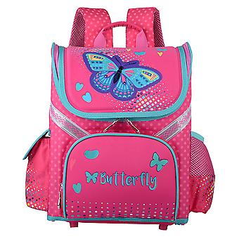 Butterfly Print Backpack For School Girls